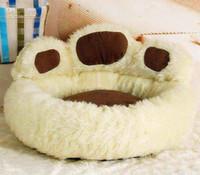 Wholesale hot selling Paw Shape Pet Dog Cat Bed House Nest Warmer Soft Beds Sleep Plush Luxury House Gift