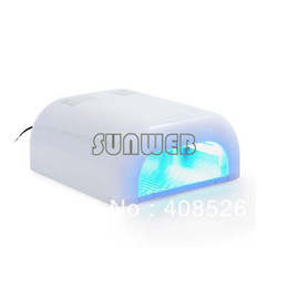 Wholesale New W Nail UV Lamp Acrylic Gel Salon Curing Light Time Dryer SPA Watt V White