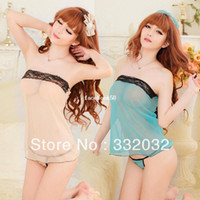 Woman See-through Rayon,Polyester,Bamboo Fiber,Spandex 2014 women baby toy sexy lingerie Spring summer the home fashion clothing nightwear bathrobe Exports quality clothing Lingerie