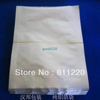 Wholesale 20x30cm pure aluminum foil bag vacuum food packaging bags heat sealable medicine packer material accessories