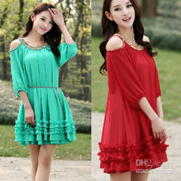 Wholesale Hot Sale New Spring And Autumn maternity clothing plus size Cloak chiffon dress Dew shoulder loose women Prom Dress