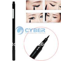 Waterproof Pencil Eyeliner Waterproof Beauty Makeup Cosmetic Liquid Eye Liner Eyeliner Pen Pencil Black Free Shipping 6546