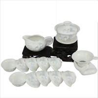Wholesale Freeshipping New Coming Ceramic bone China kungfu tea set suit tea cups ceramic tea set In Stock And Safety Package