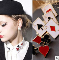 Other Unisex Gift New Style Fashion Brooches Lovely Funny Modern Poker Pattern Brooch Neckties Lady's Accessories