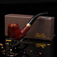 Wood Bent Type  piece set briar smoking pipe set gift