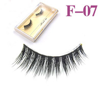 cosmetic eyelash - Hot sale Natural handmade mink hair false eyelash cross long false eye lash extension eye makeup cosmetics artificial eyelash f07