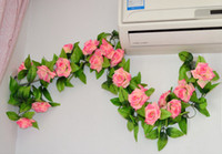 Wholesale New Arrive Wedding decorations flower vine artificial rose simulation roses silk flower