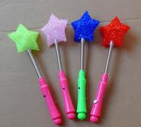 Wholesale EMS LED Glow Star Wand Mixed Rose Heart Shaped Stick Flashing Light Concert Party led toys K07570