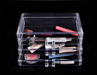 Wholesale Three Layers Drawer style Transparent Jewelry Display Top Acrylic Make Up Organizer Boxes K07572