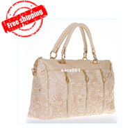 Wholesale New Fashion Women s Lady Retro Lace Handbag PU Faux Leather Designer Tote Crossbody Shoulder Bag Dropshipping