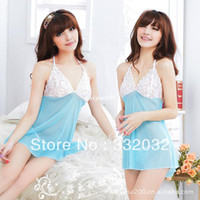 Woman Condole Belt Skirt polyester Factory Wholesale Spring summer sexy and the home fashion clothing pajamas bathrobe female V-neck sexy lingerie 10pcs lot