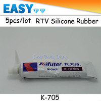 K-705 silicone sealant - 5pcs High Quality NEW Kafuter Transparent Electronic Sealant K Cured Silicone Rubber