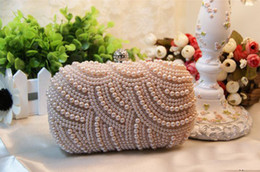 Wholesale Pearl Elegant Prom Evening Party Hand Bags Luxury Bridal Accessories