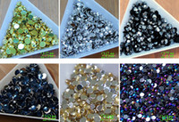 achat en gros de revêtement en strass en acrylique-Hot 5000pcs / lot 3mm acrylique Crystal Clear Flatback scrapbook Nail Gems Clou Art Scrapbooking 30colors