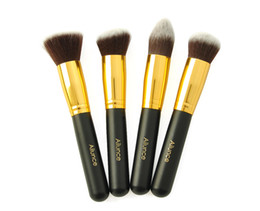 Wholesale Fashion Loving Top Quality ALUNCE Gold Pro Foundation blush Liquid brush Kabuki Makeup Brush Set Cosmetics Tools ZH1217C