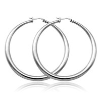 wholesale basketball wives earrings - Classic Hoop Earrings L Stainless Steel Never Fade Basketball Wives Earrings Fashion Jewelry For Women MGC GE678