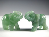 jade Carved  A pair of beautiful dong ling jade elephant, the lowest price,2pcs