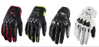 Wholesale Racing Bomber Motorcycle Bike Gloves Protective Leather Gloves WHITE RED BLACK GREEN