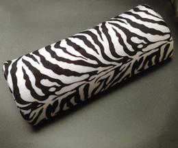Wholesale New Zebra Stripe Soft Hand Cushion Pillow Rest for Nail Art Manicure Half Column