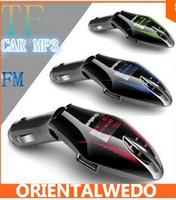 Wholesale LCD Vogue Car Kit MP3 Player Wireless FM Transmitter Modulator w Remote USB TF2014 latest bigsale amp Drop Shipping
