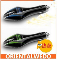 Wholesale Tren Car Kit MP3 Player Wireless FM Transmitter With Remote USB SD MMC Slot FM TOP SALE Drop Shipping