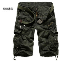 Wholesale New Autumn summer Fashion for men Military Training camo cargos shorts Outdoor Camouflage cargo mens the short pants Q0602