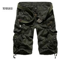 Men camo pants for men - New Autumn summer Fashion for men Military Training camo cargos shorts Outdoor Camouflage cargo mens the short pants Q0602