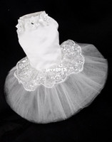 dog wedding dress - Freeshipping lurexy wedding pet clothes teddy dog clothes big lace formal dress one piece dress dog wedding dress