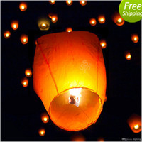 Sky Lantern Holiday  2014 5pcs DHL FREE 1$ Chineses Lantern Sky Lantern Kongming Lantern Flying Wishing Lamp Wedding Party Paper Lights