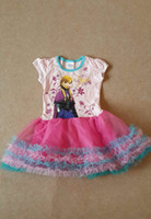 2014 Summer Children Clothing Frozen Girl Dress Princess Ann...