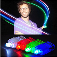 Wholesale new Christmas gifts LED Bright Finger Ring Lights Rave Party Glow x Color kids toys