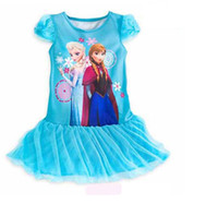 Pre- Sale 2014 Frozen Girl Dress New Arrival Girls Lace Yarn ...