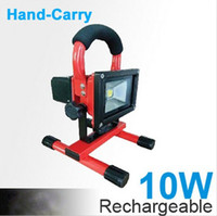 Wholesale 2014 New W Rechargeable LED FLood Light Portable Emergency kit Outdoor Work lamp IP65 Cordless mah High Power charges
