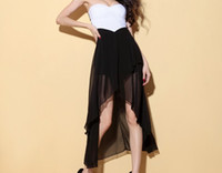 Wholesale Krazy american apparel new fashion sexy tube top club dress cut out backless ruffle long skirt chiffon cocktail dresses GD312