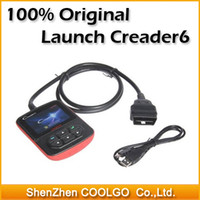 Wholesale 100 original Launch Creader VI OBDii Code reader Color screen OBD2 Car Scan Tool Launch Creader6 Diagnostic tool
