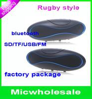 Wholesale Mini stereo music Speaker Rugby Football Design Style Wireless Bluetooth Loudspeaker
