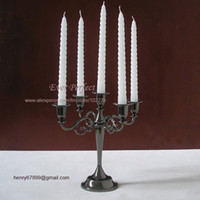Wholesale H26cm metal alloy branch candelabrum candelabra candle holder candlestand metalcraft holiday decoration Black B008