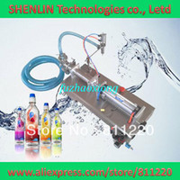 Wholesale Automatic liquids filling machine pneumatic oils filler SS304 electrical water sucking bottling packer wine packaging pipe ml