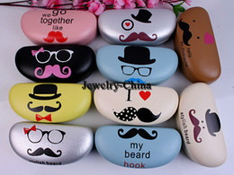 Wholesale 2014 hot Mr Beard hot new sunglasses oversized leather glasses case box