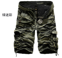 Wholesale 2014 casual army mens camo cargo shorts New summer cotton Short pants military camouflage fashion shorts men Q0605