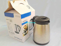 Wholesale Electric water heating kettle stainless warm protective container fast double shelled nice auto power off constant temperature