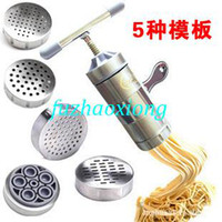Wholesale Stainless steel household noddle ejectorjuice extractor manual juicer family artisanal pasta machine hand food pressure equip