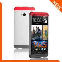 apple dip - NEW GENUINE CASE FOR HTC ONE M7 DOUBLE DIP HARD SHELL CASE COVER GREY RED HC C840