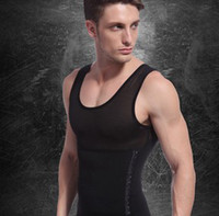 Men Bodysuit Shapers Fashion 2013 Free Shipping New 1pc White Black Color Men's Vest Tank Top Slimming Shirt Corset Body Shaper Fatty Wholesale