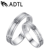 Bohemian no min order - Brand New Sterling Silver Wedding Love Rings For couple No plating High quality Min order is