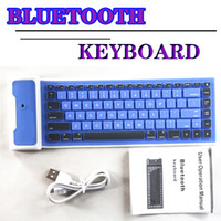 Collapsible Bluetooth Keyboard Waterproof wirless silicone g...