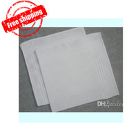 Wholesale cotton male women s satin handkerchief towboats hanjin squareinto handkerchief pure white