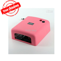 Wholesale V W Pink Nail Art UV Gel Curing Lamp Tube Light Dryer Y570