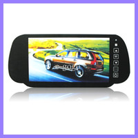 Wholesale In Car Rear View Mirror Inch LCD Monitor Reversing Back Up Camera Dual AV Input for Rear View Camera