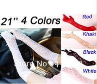 Wholesale women Sexy sun proof Lace Long Gloves Punk Halloween Cosplay Deathrock Vamp